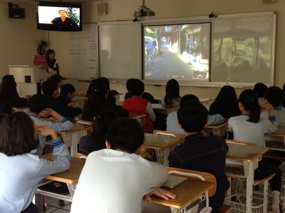 Students in Taiwan watch a 4G Field Trip to the Los Feliz Village.