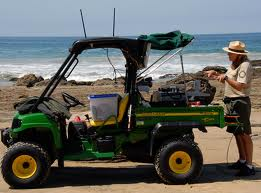 A PORTS EduGator enables Park Rangers to do virtual field trips from any parks location.  Photo courtesy of the California Parks Department.