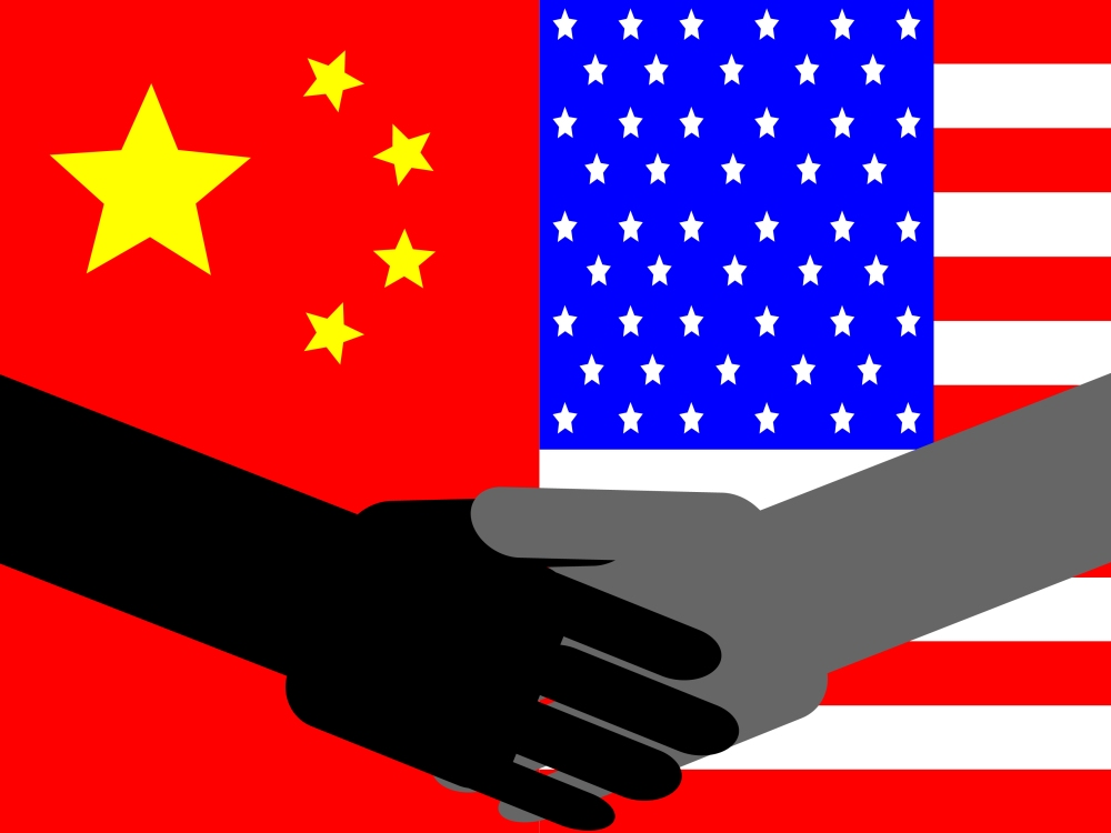 Shake hands with China.