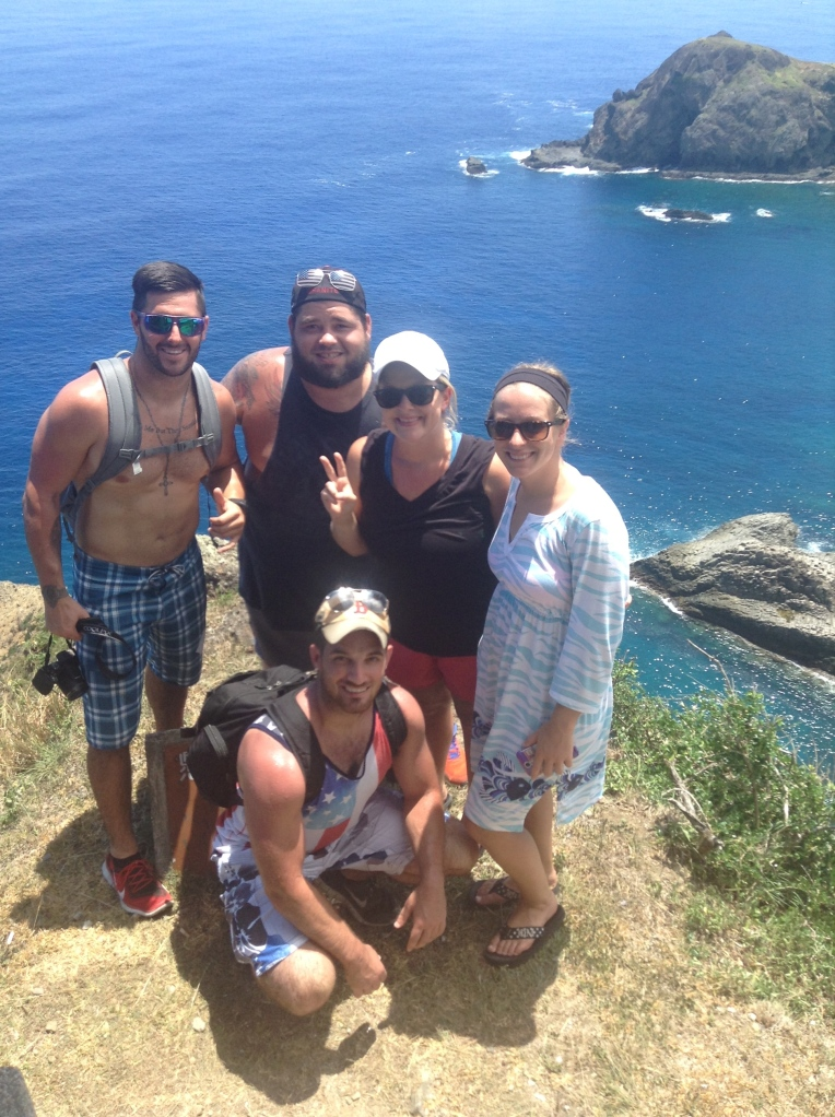 BGL Teachers Simon, Chad, Elise, Andrea and Matt on Green Island.