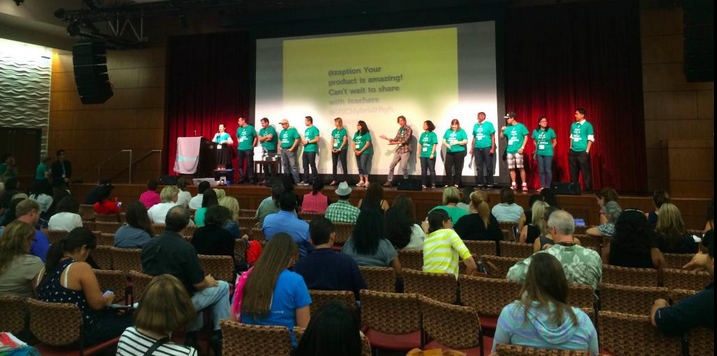 The EdSurge team is introduced in Los Angeles on 9/13/14.