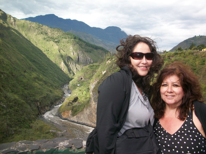Teacher Christal & her mom in Ecuador.