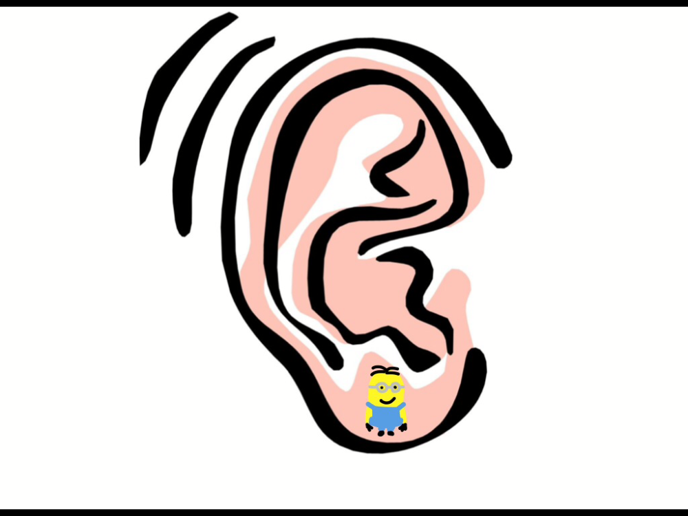 An example of ear rings, Minions-style.