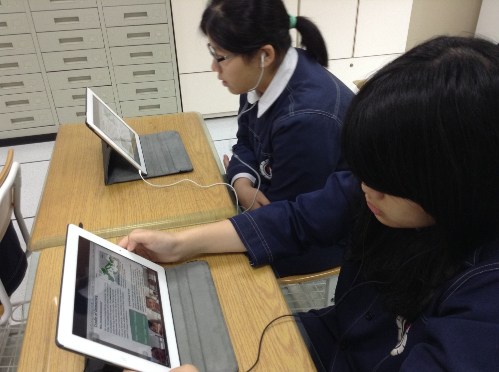 A student working on an individual assignment after a Zoom meeting.
